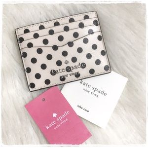 NWT! Kate Spade Staci Picture Dot Card Case Holder